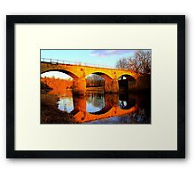 West Tees Railway Bridge over the River Tees. North East England Framed Print