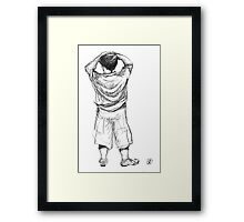The Little Boy from Bromont Framed Print