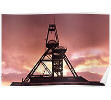 South Crofty tin mine. Poster