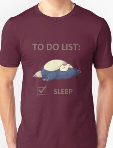 to do list _snorlax T-Shirt