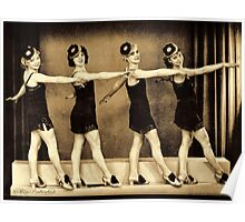 Chorus line in the 1920'es - flappers Poster