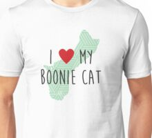 I Love My Boonie Cat (Green) Unisex T-Shirt