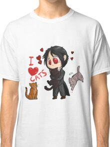 Black Butler - I love cats Classic T-Shirt