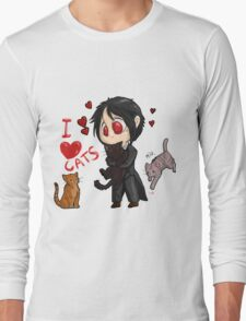 Black Butler - I love cats Long Sleeve T-Shirt
