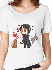 Black Butler - I love cats Women's Relaxed Fit T-Shirt