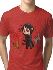 Black Butler - I love cats Tri-blend T-Shirt