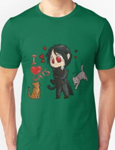 Black Butler - I love cats Unisex T-Shirt