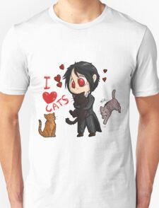 Black Butler - I love cats T-Shirt
