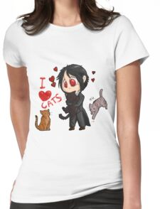 Black Butler - I love cats Womens Fitted T-Shirt