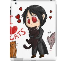 Black Butler - I love cats iPad Case/Skin