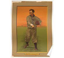 Benjamin K Edwards Collection Three Finger Brown Chicago Cubs baseball card portrait 001 Poster