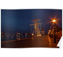 Tall Ships in Port Poster