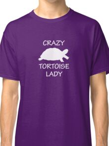 Crazy Tortoise Lady (White) Classic T-Shirt