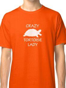 Crazy Tortoise Lady (White) Classic T-Shirt