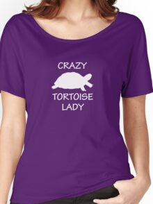 Crazy Tortoise Lady (White) Women's Relaxed Fit T-Shirt