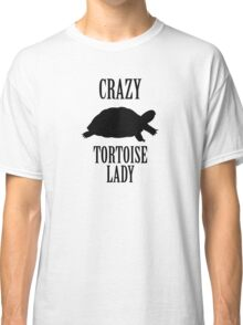 Crazy Tortoise Lady (Black) Classic T-Shirt