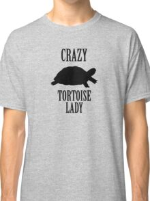 Crazy Tortoise Lady (Black) Classic T-Shirt