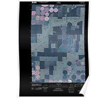USGS Topo Map Washington State WA Ruff 20110401 TM Inverted Poster