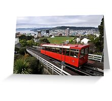 Wellington Cable Car Greeting Card