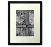 Aligned screws Framed Print