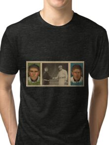Benjamin K Edwards Collection John J Murray Fred Snodgrass New York Giants baseball card portrait Tri-blend T-Shirt