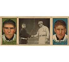 Benjamin K Edwards Collection John J Murray Fred Snodgrass New York Giants baseball card portrait Photographic Print