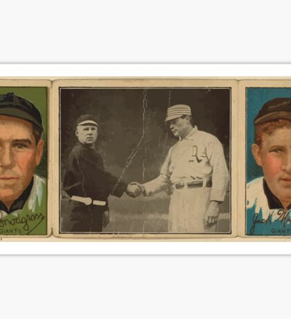 Benjamin K Edwards Collection John J Murray Fred Snodgrass New York Giants baseball card portrait Sticker