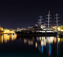 Reflecting on Malta - Luxury Superyachts in Valletta by Georgia Mizuleva