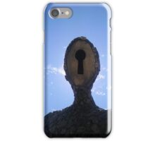 Lock and Key Man (face) iPhone Case/Skin
