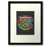 Angry Mutant Ninja Birds Framed Print