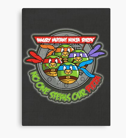 Angry Mutant Ninja Birds Canvas Print