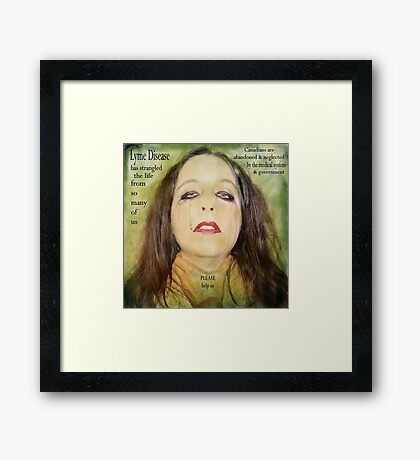 You take the breath right out of us Framed Print