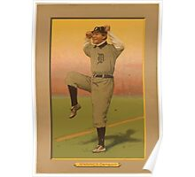 Benjamin K Edwards Collection Hughie Jennings Detroit Tigers baseball card portrait Poster