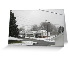 Feb. 19 2012 Snowstorm  Greeting Card