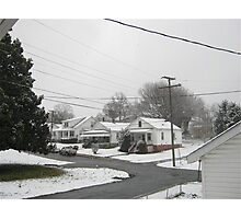 Feb. 19 2012 Snowstorm  Photographic Print