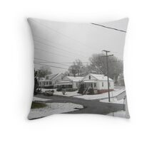 Feb. 19 2012 Snowstorm  Throw Pillow
