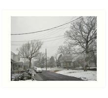 Feb. 19 2012 Snowstorm 5 Art Print