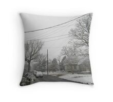 Feb. 19 2012 Snowstorm 5 Throw Pillow