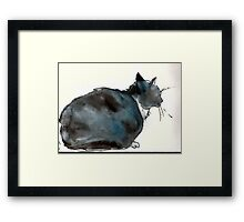 Puzzle Puss Framed Print