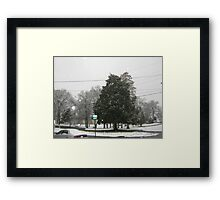 Feb. 19 2012 Snowstorm 7 Framed Print