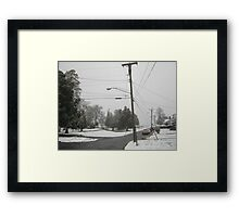Feb. 19 2012 Snowstorm 8 Framed Print