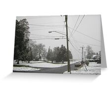 Feb. 19 2012 Snowstorm 8 Greeting Card