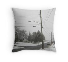 Feb. 19 2012 Snowstorm 8 Throw Pillow