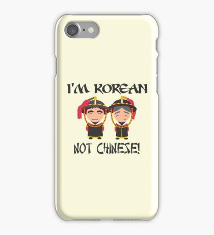 I'm Korean not Chinese iPhone Case/Skin