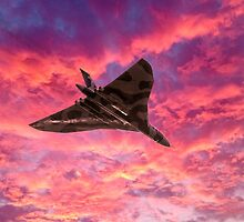 Vulcan going out in a blaze of glory by Gary Eason + Flight Artworks