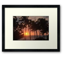 hawaiian sunset Framed Print