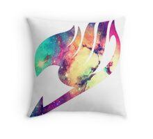 Galaxy Fairy Tail Logo Throw Pillow