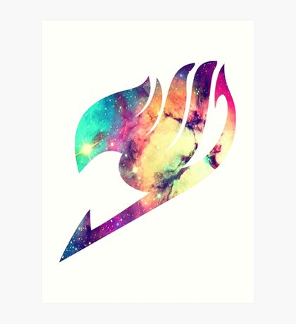 Galaxy Fairy Tail Logo Art Print