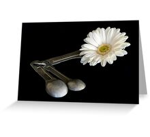 Add One Heaping Tablespoon of Flower Greeting Card
