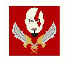 Kratos the God of War Minimalistic Design Art Print